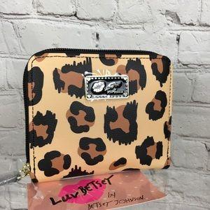 NWT Betsey Johnson Leopard Print Wallet
